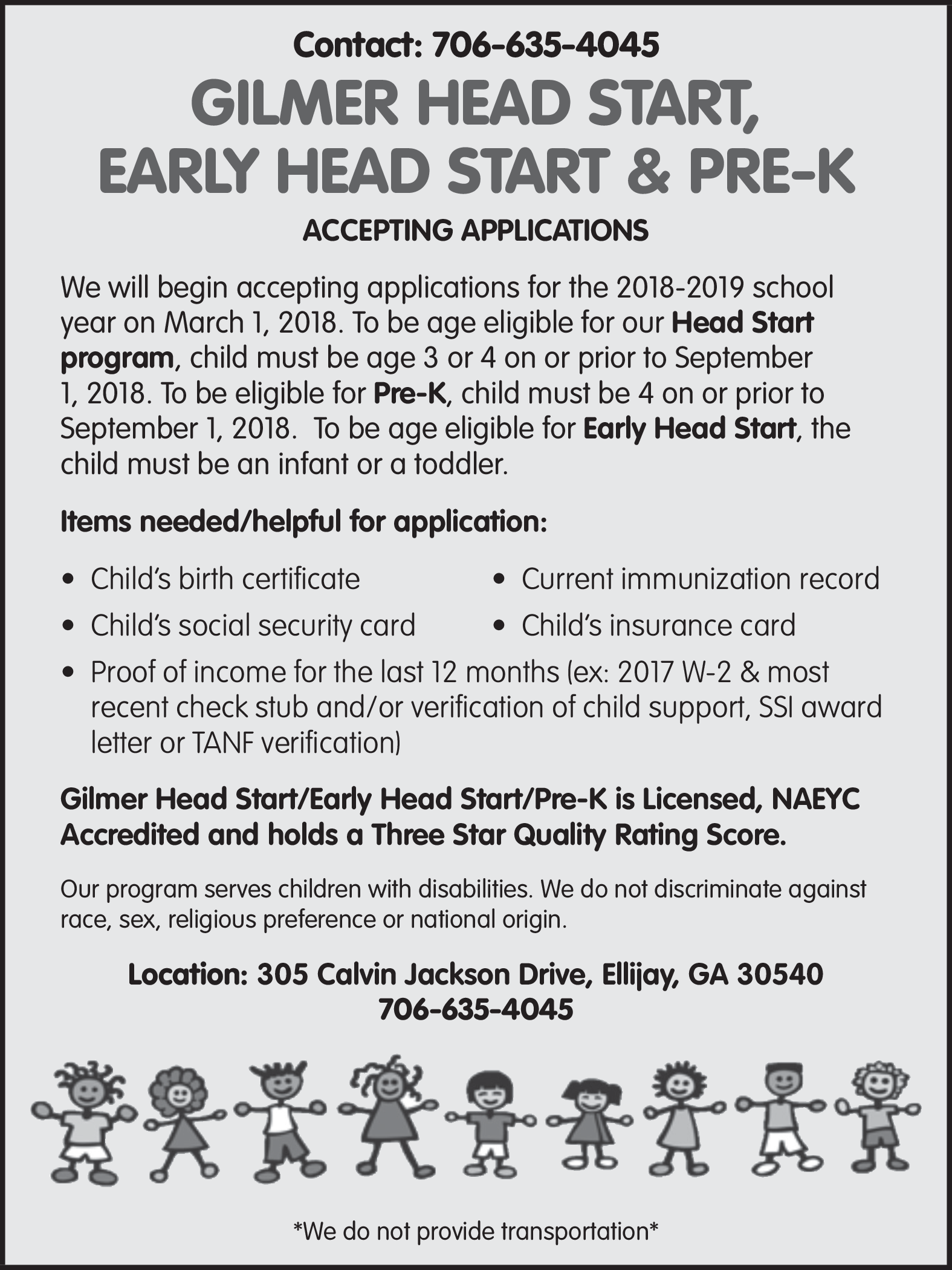 Childs Birth Certificate By Gilmer County Head Start In Ellijay