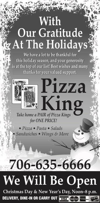 with our gratitude at the holidays east ellijay georgia - Pizza Delivery On Christmas Day